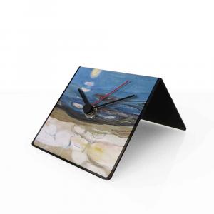 Orologio da tavolo con calendario perpetuo Arte Munch 10x10x10 cm