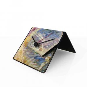 Orologio da tavolo con calendario perpetuo Arte Boccioni 10x10x10 cm