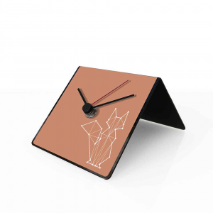Orologio da tavolo con calendario perpetuo Totem Fox 10x10x10 cm