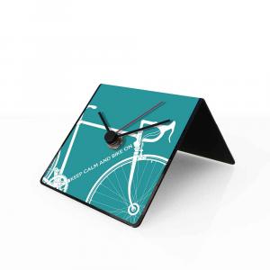 Orologio da tavolo con calendario perpetuo Bike azzurro 10x10x10 cm