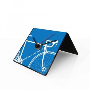 Orologio da tavolo con calendario perpetuo Bike blu 10x10x10 cm