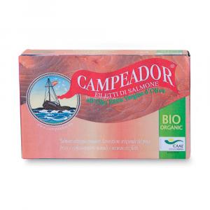 Filetti di salmone in olio extravergine di oliva Campeador