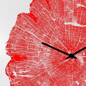 Orologio da muro Life laccato rosso