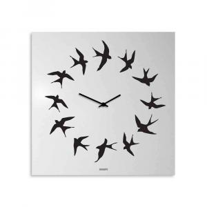 Orologio da muro Volo laccato bianco