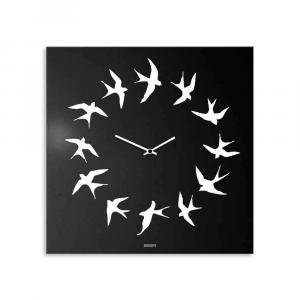 Orologio da muro Volo laccato nero