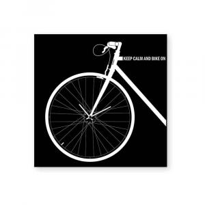 Orologio da muro Bike nero