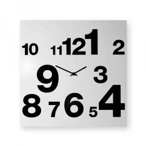 Orologio da muro Numbers Line bianco