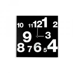 Orologio da muro Numbers Line nero