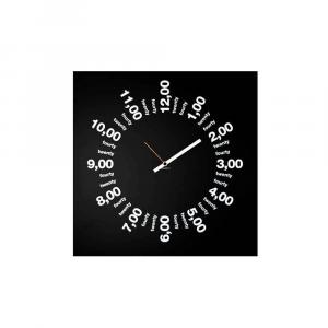 Orologio da muro Only Hours nero