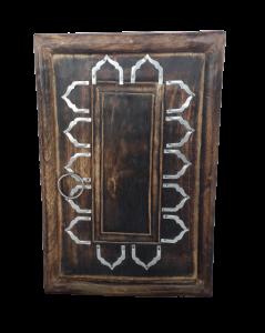 Appendi chiavi in legno indiano con bordo in metallo