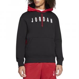 Jordan Felpa da Uomo con Cappuccio Rosso Nera da Uomo