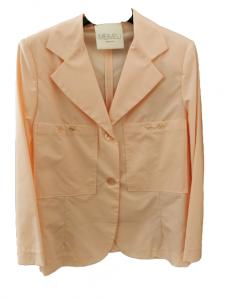 Giacca donna   rosa chiaro   100% cotone   manica lunga    tasche anteriori applicate   collo reverse   chiusura con bottoni   Made in Italy
