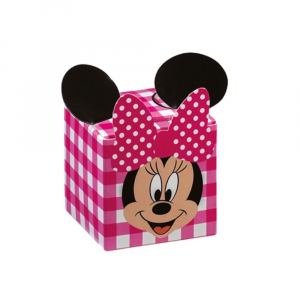 Porta confetti scatolina Minnie party fuxia
