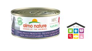 Almo Nature Gatto | Linea Cuisine HFC | Tonno, Pollo e Prosciutto - 70gr