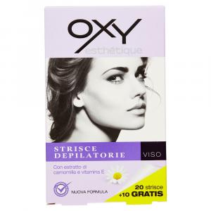 OXY Strisce Depilatorie Viso 20+10 gratis