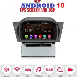 ANDROID 10 autoradio navigatore per Ford Fiesta 2013-2017 GPS DVD USB SD WI-FI Bluetooth Mirrorlink