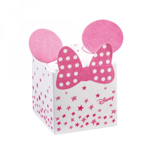 Porta confetti scatolina Minnie stars rosa