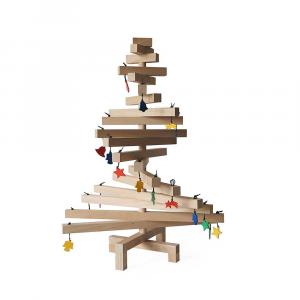 Albero di Natale legno di faggio cm 50x70 h lavorato a mano