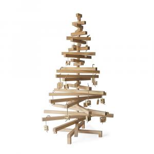 Albero di Natale legno di faggio cm 75x120 h lavorato a mano