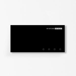 Portastrofinacci organizer MyKitchen nero 40x20cm con 3 magneti