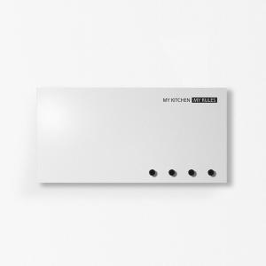 Portastrofinacci organizer MyKitchen grigio chiaro 40x20cm con 3 magneti