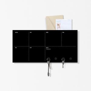 Agenda settimana Portachiavi organizer Week nero 40x20cm con 3 magneti