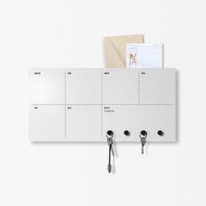 Agenda settimana Portachiavi organizer Week grigio chiaro 40x20cm con magneti