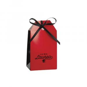 Shoppy porta confetti Laurea rosso nero