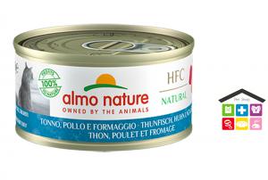 Almo Nature HFC Natural Tonno, Pollo e Formaggio 0,70g