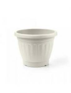 Veca Firenze Vaso Circolare 45 cm Grigio Per Piante e Fiori Da Giardino