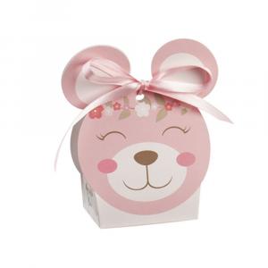 Porta confetti scatolina orsetto rosa