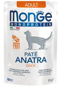 Monge gatto monoproteico Paté  – Adult  85 g vari gusti