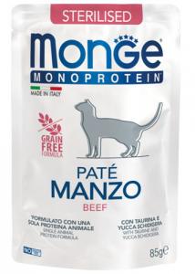 Monge gatto patè monoproteico  sterilizzato 85g