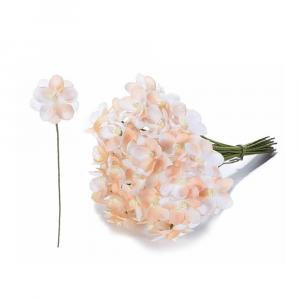 Fiorellino artificiale in stoffa pesca per bomboniera