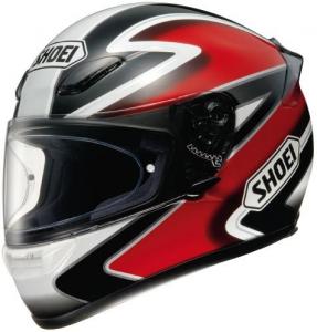 CASCO SHOEI XR 1000 STRAIGHT RED/BLACK