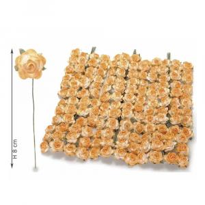 Rosellina artificiale in carta arancione per bomboniera