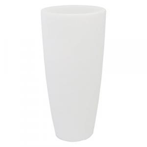 VASO TONDO 'STILO LAMP' Ø cm 40xh.90 lt.20 ghiac./luce bia.   PZ 1