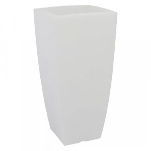 VASO QUADRO 'STILO LAMP' cm 40x40xh.90 lt.20 ghiac./luc.bia.   PZ 1