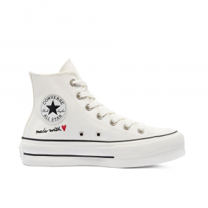 Converse Chuck Taylor Love Thread Bianche Unisex