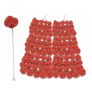 Rosellina chiudipacco in gesso rosso