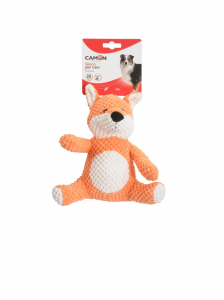Giochi per cane Orsetto e volpe in peluche con squeaker Camon