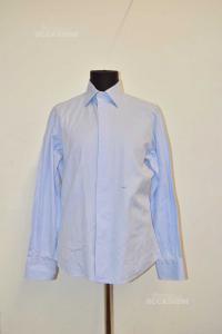 Shirt Man Light Blue Size 40 Neck 15 3 / 4