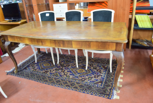 Table Antique In Wood 90x200 Cm