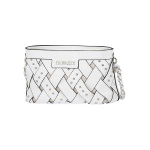 Minibag intrecciata con borchie