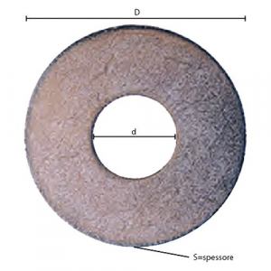 RONDELLA GREMBIALINA M 10- 2,5 x  40 x  10,5 mm     CF   1