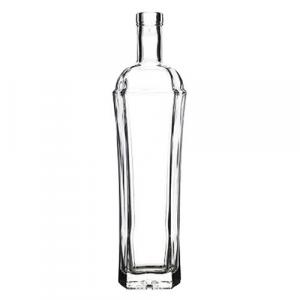 BOTTIGLIA IN VETRO PER DISTILLATI 'EXAGON' 500 ml - colore bianco