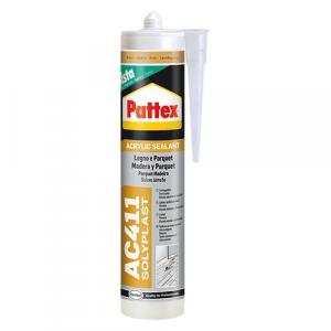 SILICONE ACRILICO PER LEGNO E PARQUET 'PATTEX AC411' ml 300 - Acero