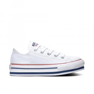 Converse Chuck Taylor Platform All Star Low Top Bianche Unisex