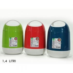 Portavivande Termico Capacità 1,4 litri Colori Assortiti Disponibile in Rosso Verde Blu Per Cibo e Altro Casa