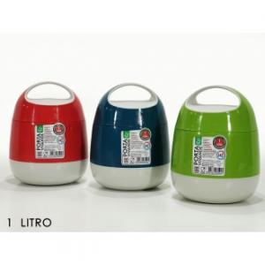 Thermos per Vivande Capacità Massima 1 Litro Per Cibi Preparati e Altro Colori Assortiti Verde Rosso Blu Casa